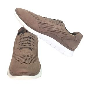 Vionic Fresh Joey 8.5 Lace Up Casual Sneaker Taupe